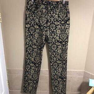 Lafayette 148 New York Pants Black Gold Foil   10